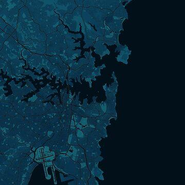 Map of Sydney (dark) by roger