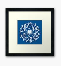 Science a circle Framed Print