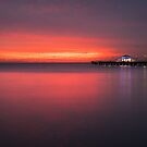 Shepherd's Warning over the Pier by Silken Photography