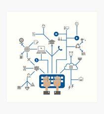 Science a network Art Print