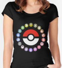 Pokemon Type Wheel Women's Fitted Scoop T-Shirt
