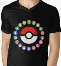 Pokemon Type Wheel Men's V-Neck T-Shirt