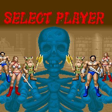 Golden Axe - Select Player by pixelskaya