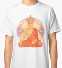 Golden Buddha + Mandala Classic T-Shirt