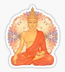 Goldener Buddha + Mandala Sticker