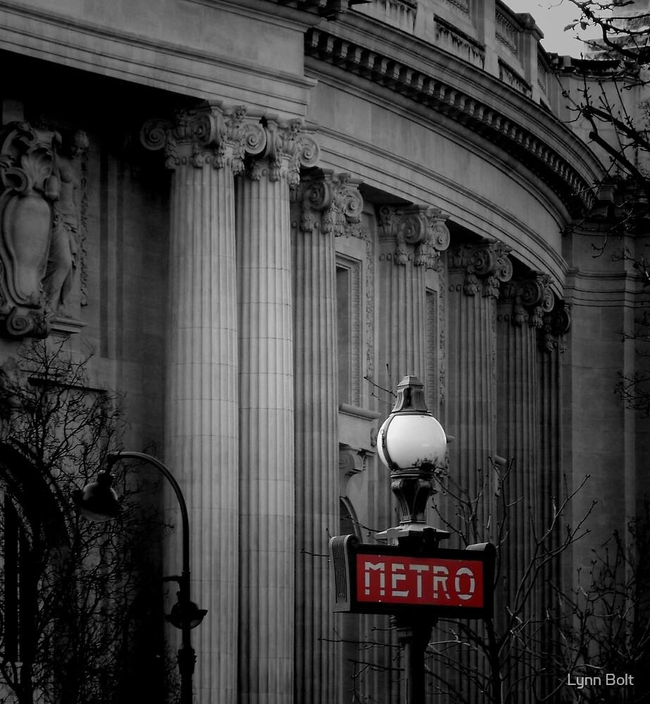 Paris Metro Sign by Lynn Bolt
