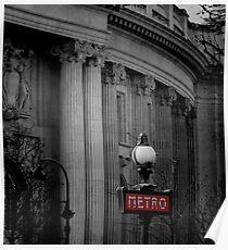 Paris Metro Sign Poster