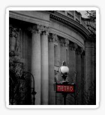 Paris Metro Sign Sticker