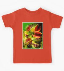 """VENUS FLY TRAP"" Flowered Poster Print Kids Tee"
