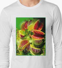 """VENUS FLY TRAP"" Flowered Poster Print T-Shirt"