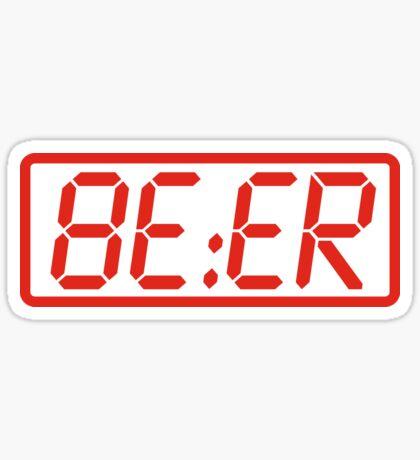 Beer O'Clock Sticker