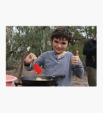 Camp Cooking Photographic Print
