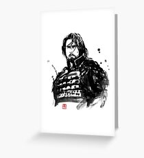 the last samurai Greeting Card