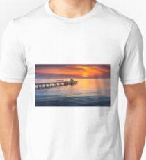 Romantic sunset on lake Neusiedl Unisex T-Shirt