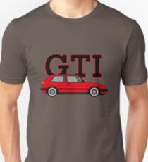 Golf MK2 GTI (Big Bumper, Tornado Red) Unisex T-Shirt