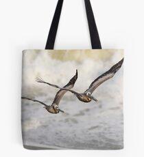 Never Leave Your Wingman - Pelican Pair Tote Bag