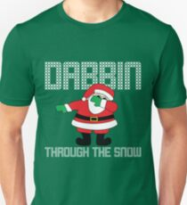 Santa Dabbin' Through The Snow Unisex T-Shirt