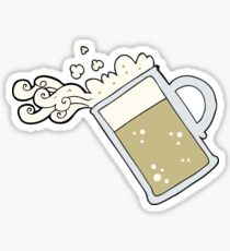 cartoon pouring beer Sticker