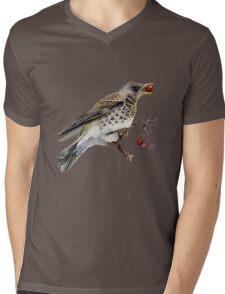 Fieldfare thrush Mens V-Neck T-Shirt
