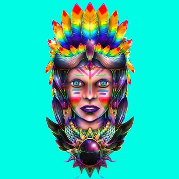 The Rainbow Lady by mikehite