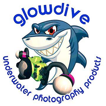 Glowdive shark dark blue caption by underwaterart