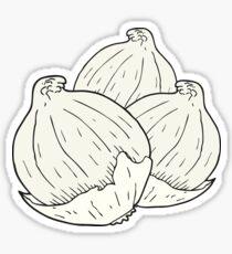 cartoon onions Sticker
