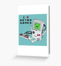 GBMO, The Retrogames Lover Greeting Card