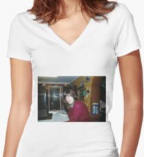OO-1 Women's Fitted V-Neck T-Shirt