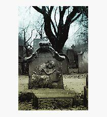Winter Tombstone Photographic Print