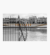 Streets of Seville - Calle Betis Photographic Print