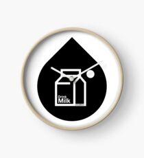 Milk - (Black) Clock