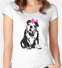Betty Bulldog Women's Fitted Scoop T-Shirt