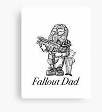Fallout Dad (White) Canvas Print