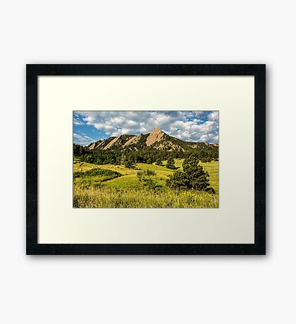 Delicious Vanilla Clouds On A Summer Chautauqua Morning Framed Print