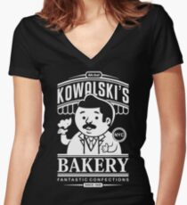 Kowalski's Bakery Women's Fitted V-Neck T-Shirt