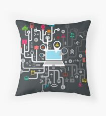 Science the computer Throw Pillow