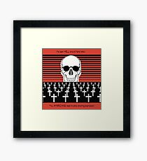 It's been HELL this Year!  You AMERICANS need to stop shooting everyone! Framed Print