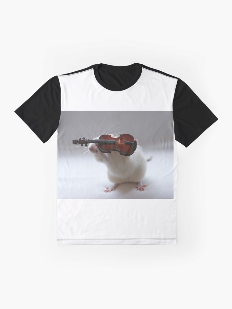 Alternate view of Its not easy being a violin player:) Graphic T-Shirt