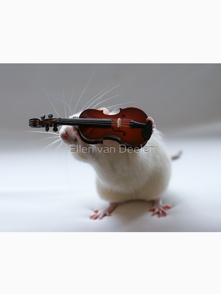 Its not easy being a violin player:) by Ellen