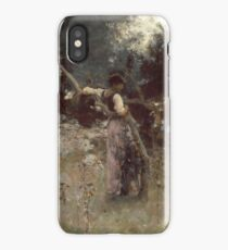 John Singer Sargent - A Capriote 1878. Woman portrait: sensual woman, girly art, female style, pretty women, femine, beautiful dress, cute, creativity, love, sexy lady, erotic pose iPhone Case/Skin