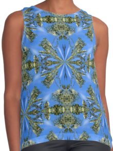 Locust Flower Blossoms Abstract Contrast Tank