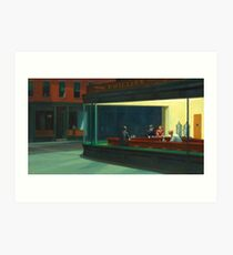 Vintage Edward Hopper Nighthawks Diner Art Print