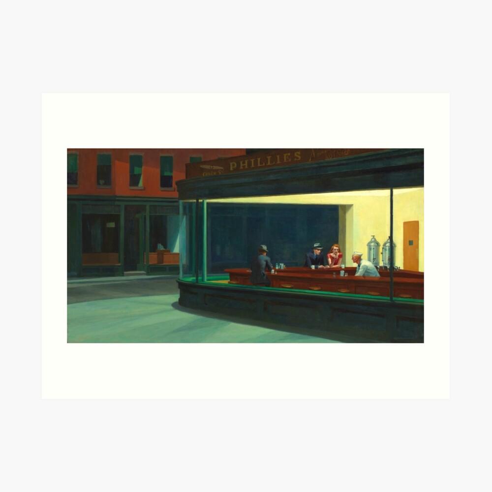 Weinlese Edward Hopper Nighthawks Abendessen Kunstdruck