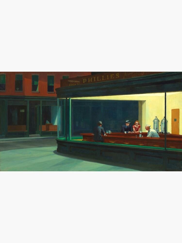 Vintage Edward Hopper Nighthawks Diner by pdgraphics