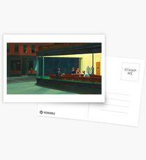 Weinlese Edward Hopper Nighthawks Abendessen Postkarten