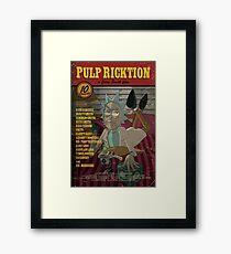 Pulp Ricktion Framed Print