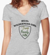 Troop Beverly Hills  Women's Fitted V-Neck T-Shirt