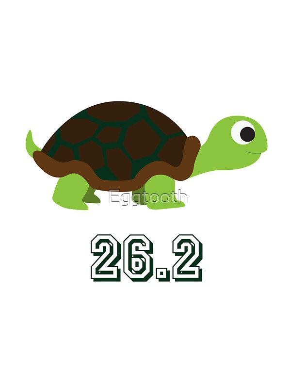 Quot Cute Turtle 26 2 Marathon Quot Stickers By Eggtooth Redbubble
