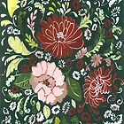 Dark Floral Tapestry by Anita Ristovski