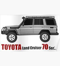 TOYOTA Land Cruiser 70 Series HZJ77 (side)(bullbar) (machito) Poster
